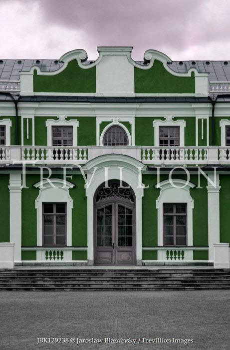 Jaroslaw Blaminsky Green mansion under clouds