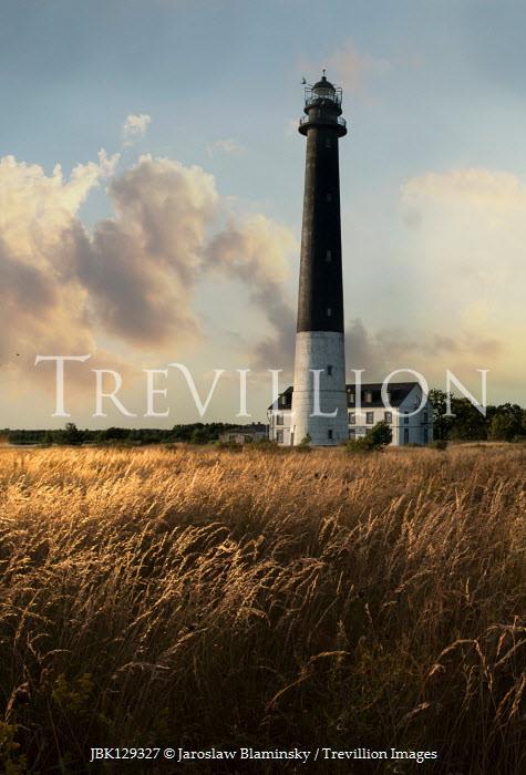 Jaroslaw Blaminsky Lighthouse at sunset