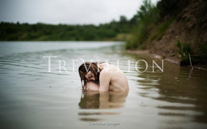 Alexandra Bochkareva NAKED GIRL SITTING IN LAKE Women