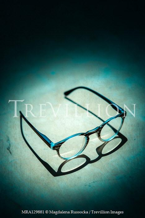 Magdalena Russocka vintage eyeglasses left on wooden surface