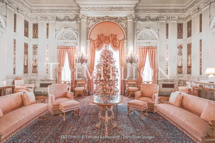 Evelina Kremsdorf ORNATE SITTING ROOM OF GRAND HOUSE Interiors/Rooms