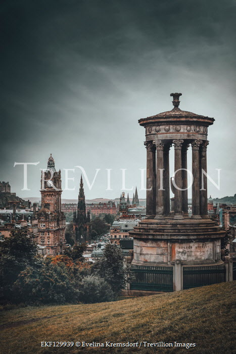 Evelina Kremsdorf MONUMENT AND VIEW OF EDINBURGH Miscellaneous Cities/Towns