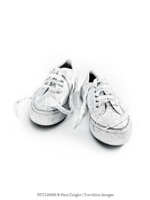 Paul Knight PAIR OF DIRTY WHITE PUMPS WITH LACES Miscellaneous Objects