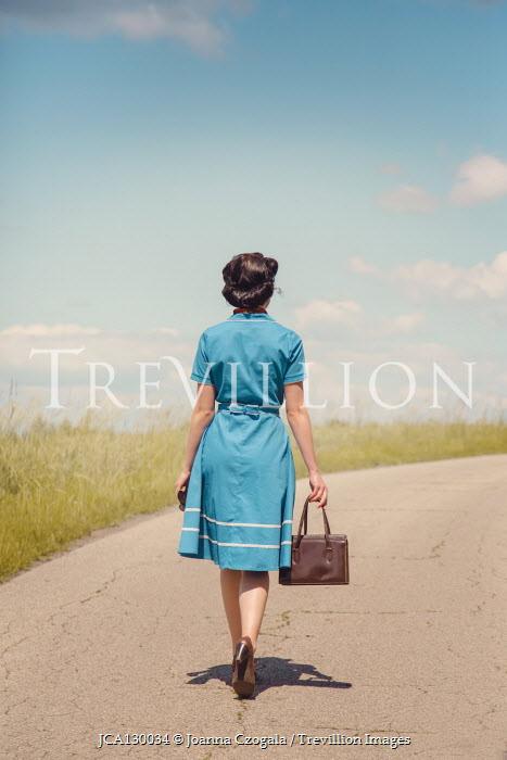 Joanna Czogala WOMAN ON COUNTRY ROAD IN SUMMER Women
