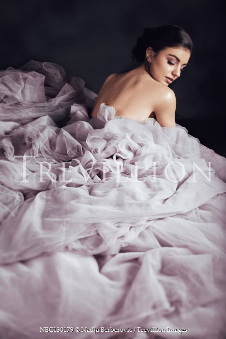 Nadja Berberovic Young woman in purple dress