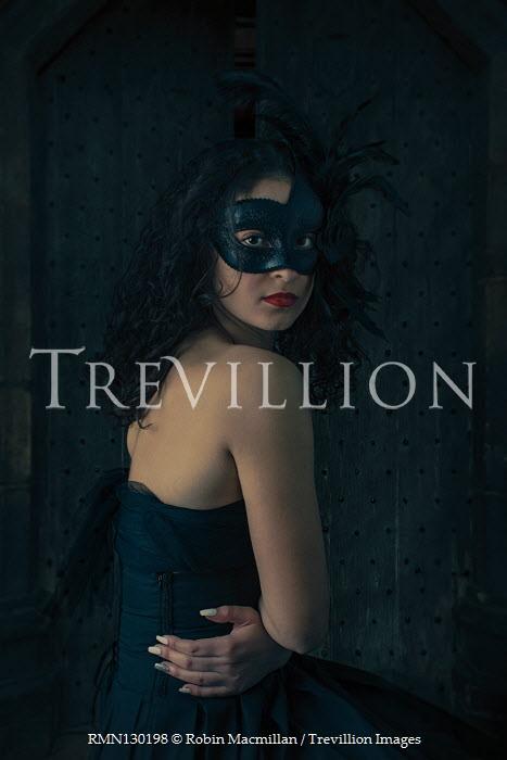 Robin Macmillan Young woman in masquerade mask