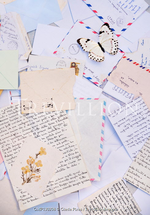 Giada Piras Scattered letters and envelopes
