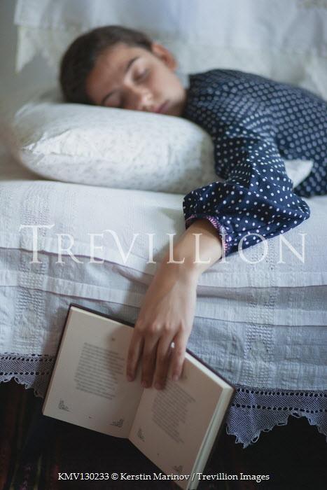 Kerstin Marinov Sleeping girl holding open book