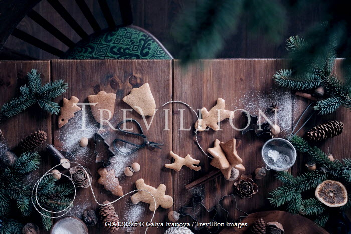 Galya Ivanova BISCUITS AND FIR CONES ON TABLE Miscellaneous Objects