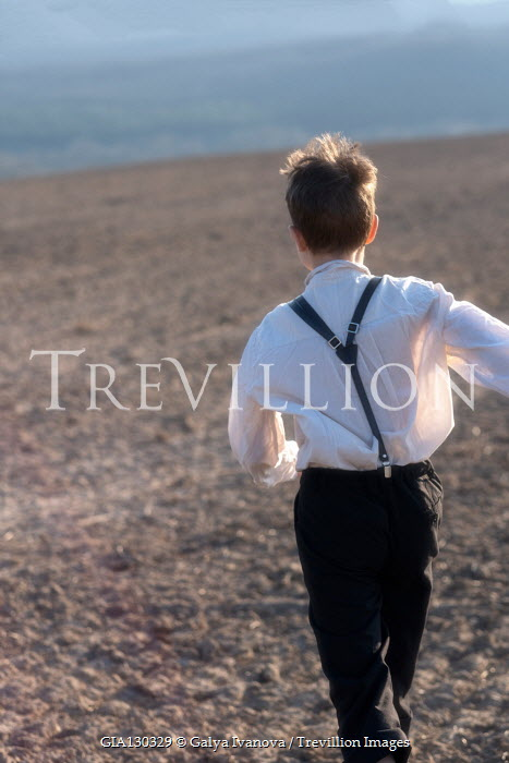 Galya Ivanova LITTLE BOY RUNNING IN COUNTRYSIDE Children
