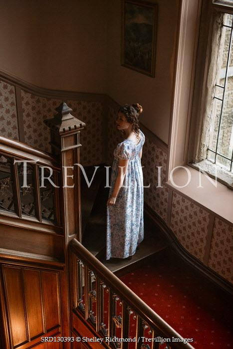 Shelley Richmond REGENCY WOMAN ON STAIRCASE BY WINDOW Women