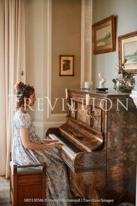 Shelley Richmond Victorian woman playing piano