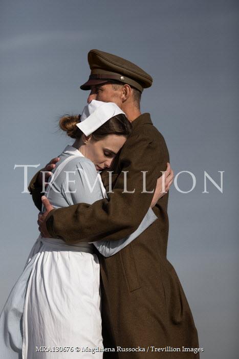 Magdalena Russocka Soldier and nurse embracing