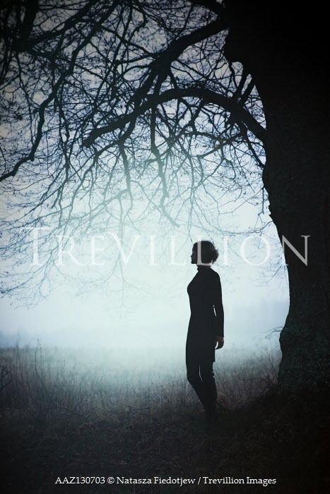 Natasza Fiedotjew Silhouette of woman under big tree