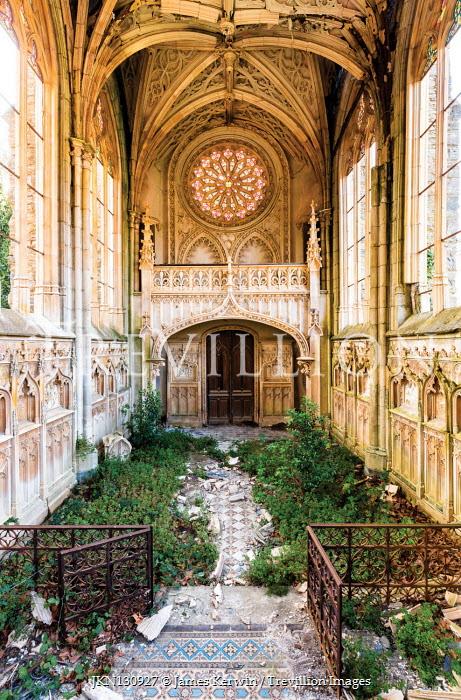 James Kerwin INTERIOR OF OVERGROWN DERELICT CHURCH Religious Buildings