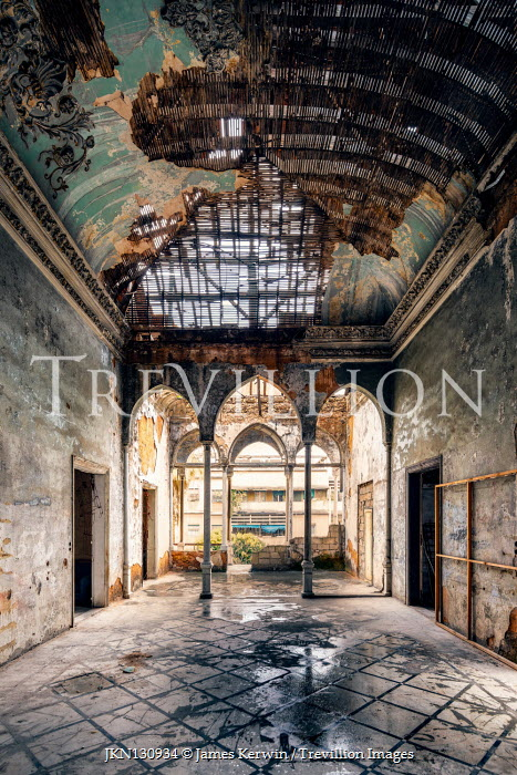 James Kerwin INTERIOR OF DERELICT PALACE Interiors/Rooms