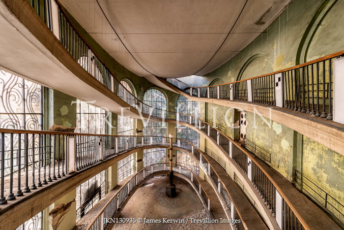 James Kerwin LARGE DERELICT BUILDING WITH CURVED RAMPS Interiors/Rooms