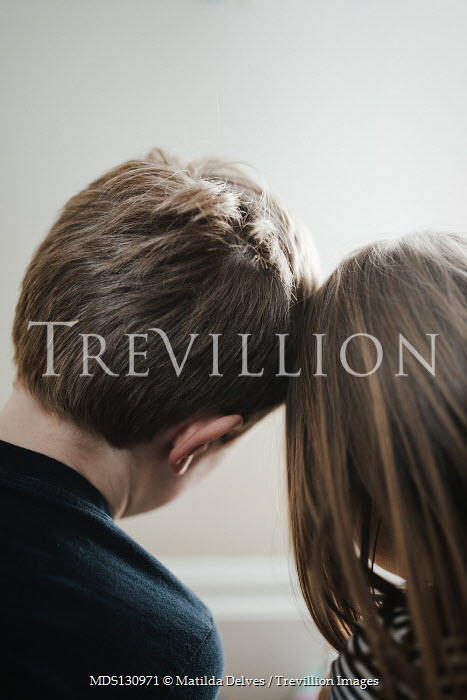 Matilda Delves LITTLE GIRL AND BOY TOUCHING HEADS Children