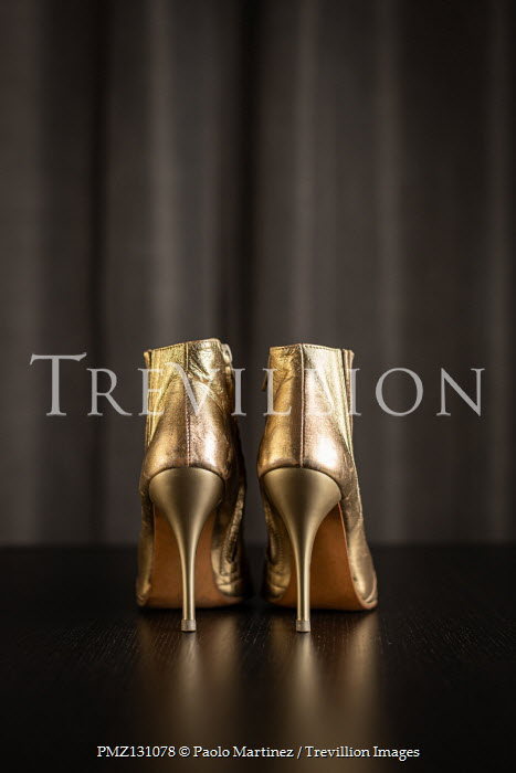 Paolo Martinez Gold high heels