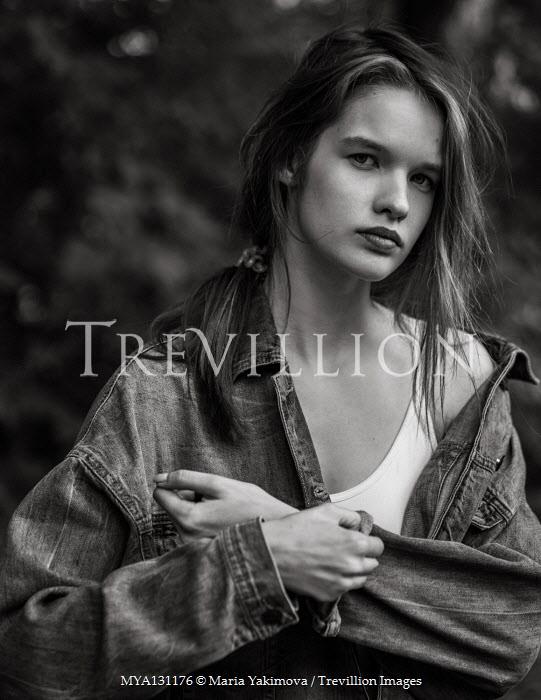 Maria Yakimova Young woman in denim jacket