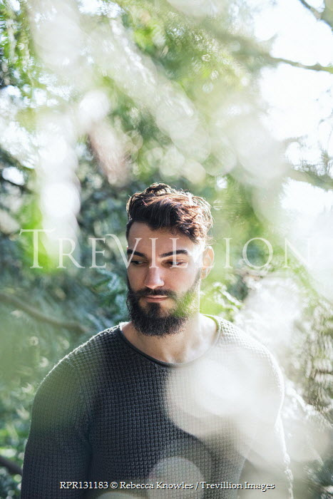Rebecca Knowles Young man with beard under tree