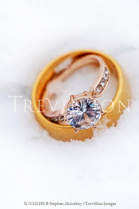 Stephen Mulcahey Wedding rings and snow