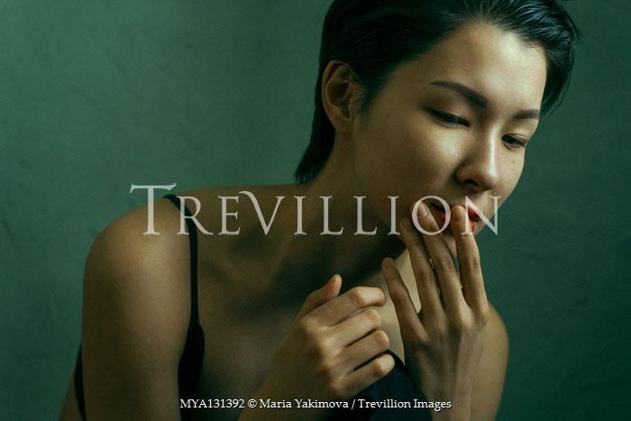 Maria Yakimova SERIOUS YOUNG ASIAN GIRL IN LINGERIE Women