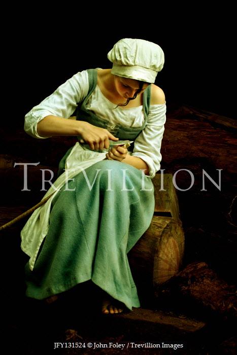 John Foley Historic maid carving