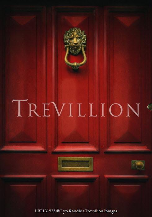 Lyn Randle Red door with knocker