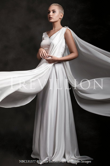 Nadja Berberovic Young woman in white dress