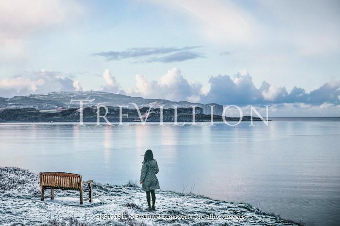 Evelina Kremsdorf Woman by bench at coast of Isle of Skye, Scotland