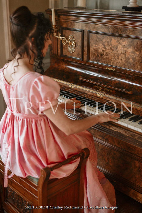Shelley Richmond REGENCY WOMAN PLAYING PIANO Women