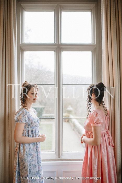 Shelley Richmond TWO REGENCY WOMEN WITH DARK HAIR BY WINDOW Women