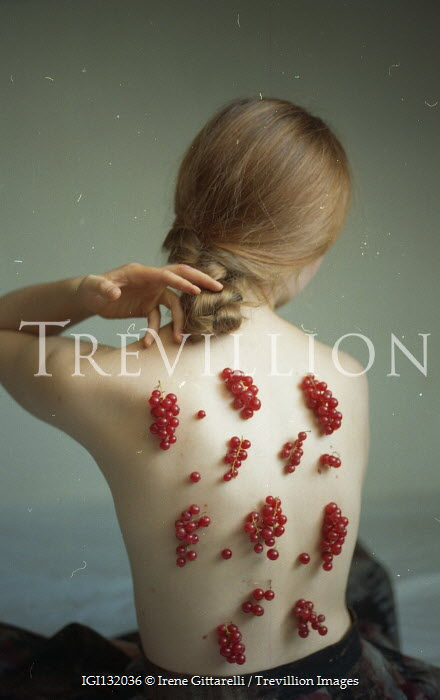 Irene Gittarelli WOMAN WITH RED BERRIES ON BARE BACK Women