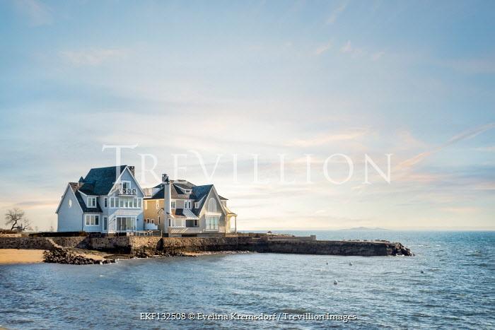 Evelina Kremsdorf HOUSE BY SEA WITH STONE JETTY Houses