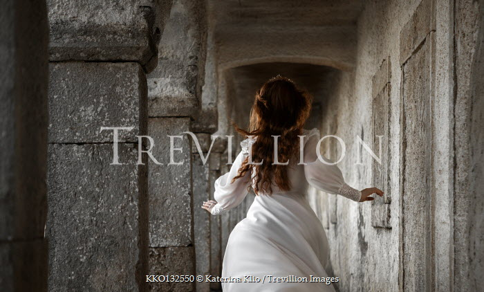 Katerina Klio WOMAN RUNNING IN HISTORICAL BUILDING Women
