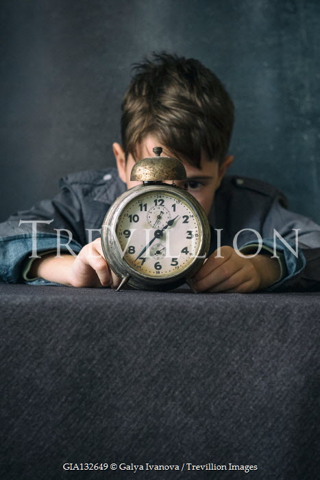 Galya Ivanova LITTLE BOY WITH RETRO ALARM CLOCK Children