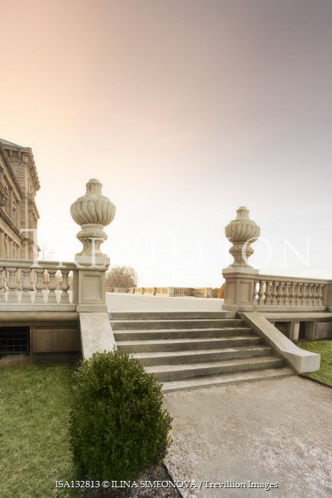ILINA SIMEONOVA GRAND GARDEN STEPS WITH URNS AND TERRACE Stairs/Steps