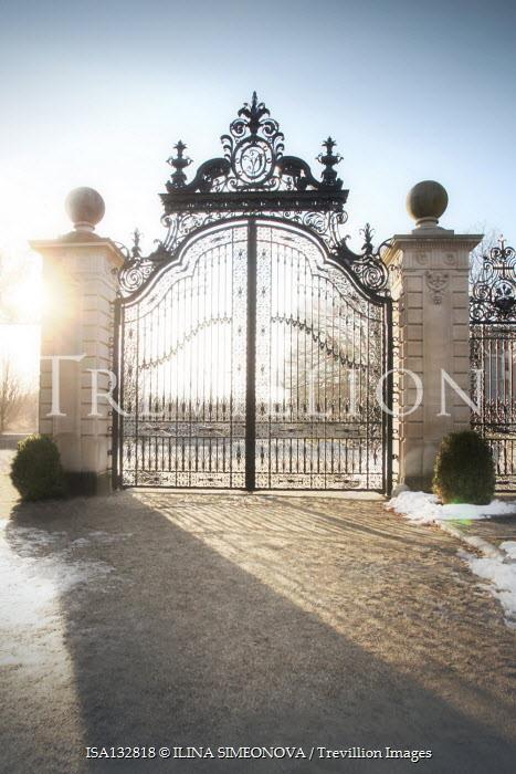 ILINA SIMEONOVA GRAND WROUGHT IRON GATES WITH SNOW Gates