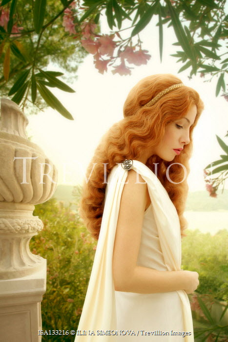ILINA SIMEONOVA Young woman in ancient Roman dress