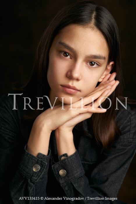Alexander Vinogradov SERIOUS TEENAGE GIRL WITH DARK HAIR Children