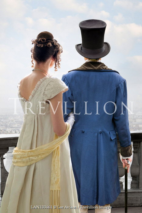 Lee Avison regency couple standing arm in arm