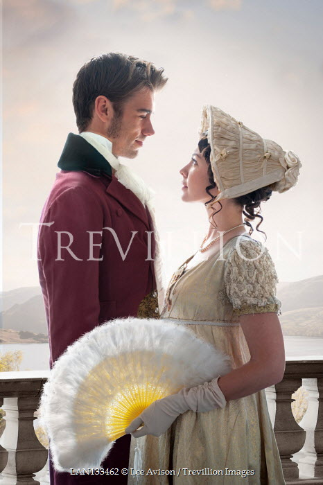 Lee Avison regency couple face to face