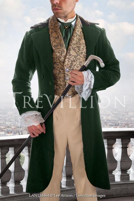 Lee Avison regency gentleman standing with a walking cane