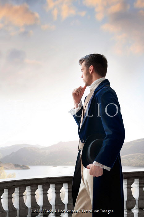 Lee Avison regency man overlooking a lake