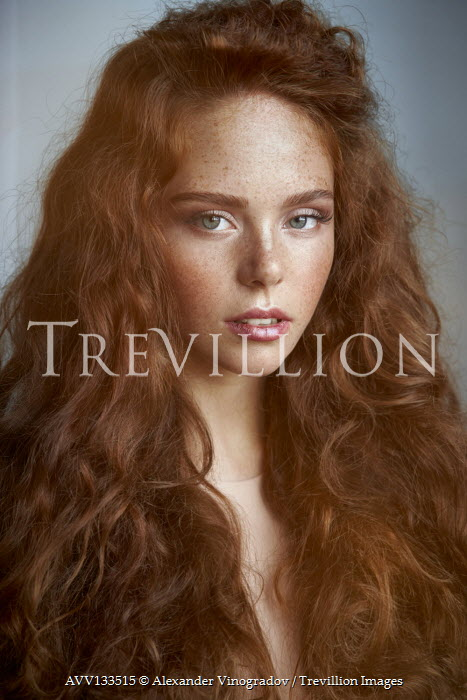 Alexander Vinogradov CLOSE UP OF GIRL WITH RED HAIR AND FRECKLES Women