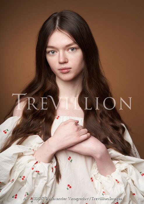 Alexander Vinogradov SERIOUS GIRL WITH LONG BROWN HAIR Women