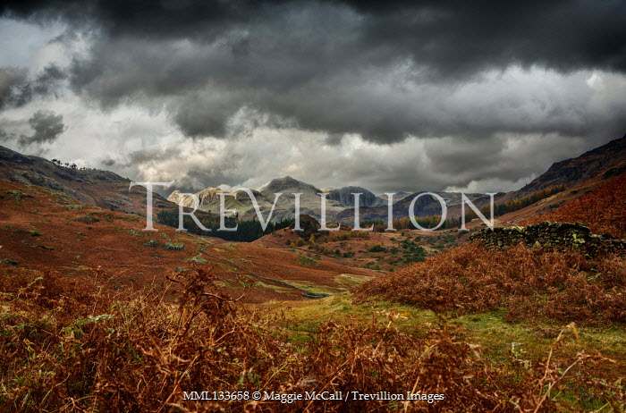 Maggie McCall MOORLANDS AND MOUNTAINS WITH STORMY SKY