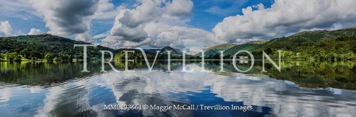 Maggie McCall CLOUDS AND SKY REFLECTED IN TRANQUIL LAKE