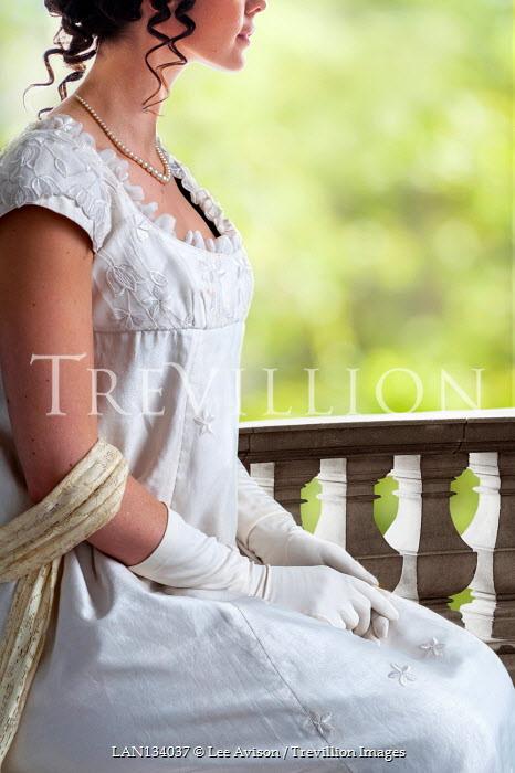 Lee Avison anonymous regency woman sitting outdoors